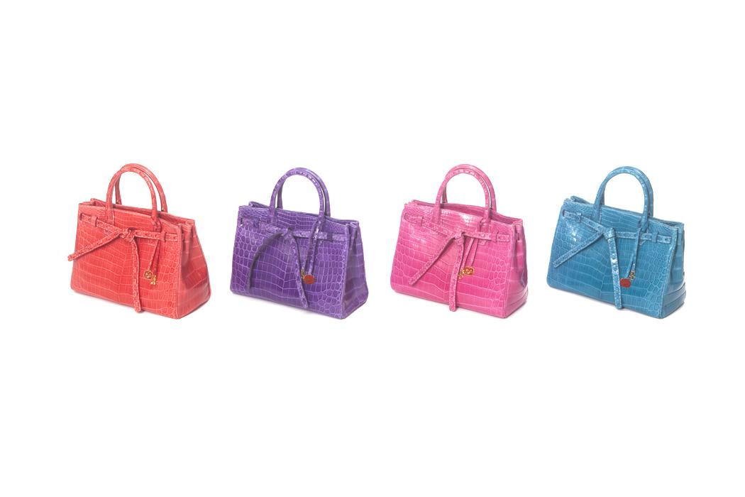 elite luxury accessories color croc hand bags