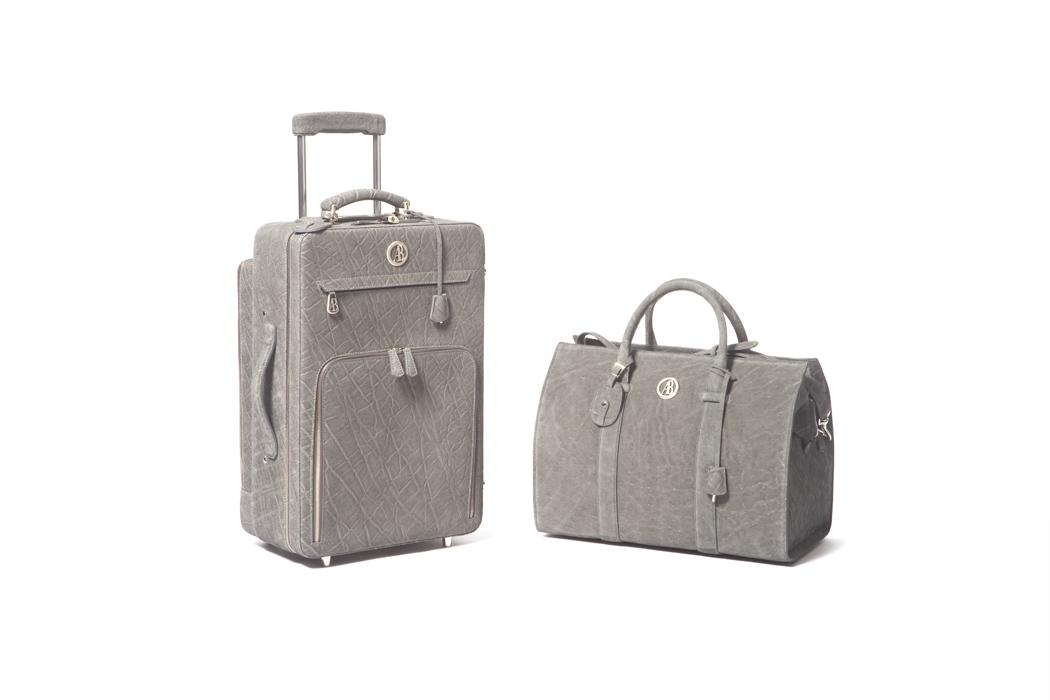 elite luxury accessories trolley set grey